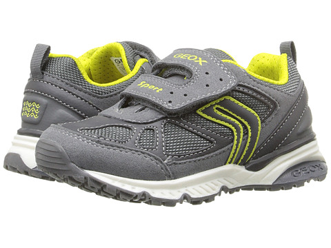 Geox Kids Jr Bernie 14 (Toddler/Little Kid) - Grey/Lime