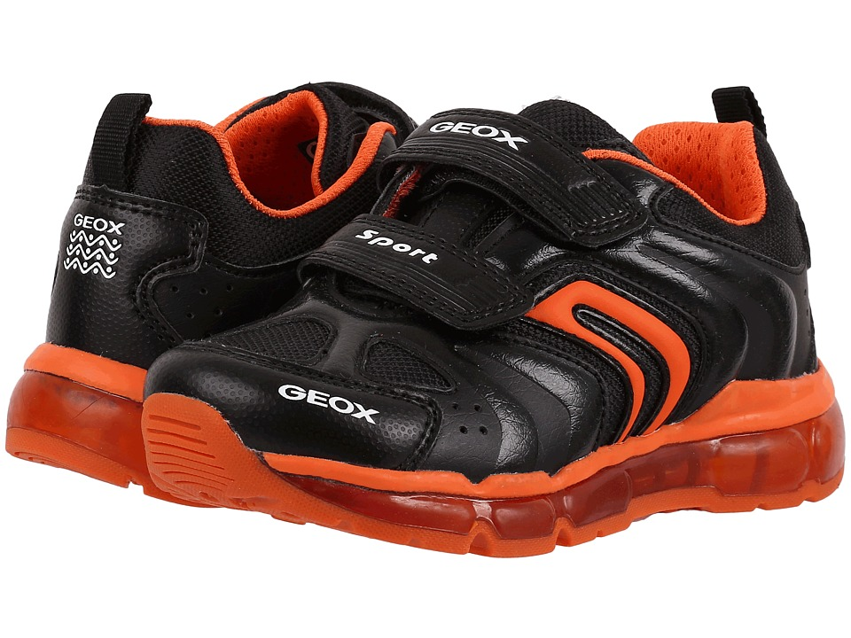 Geox Kids - Jr Android Boy 9 (Toddler\/Little Kid) (Black\/Orange) Boy's Shoes