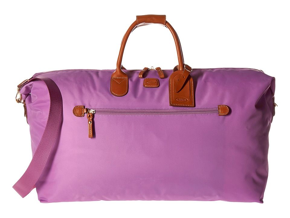Brics Milano X Bag 22 Deluxe Duffel Violet Duffel Bags