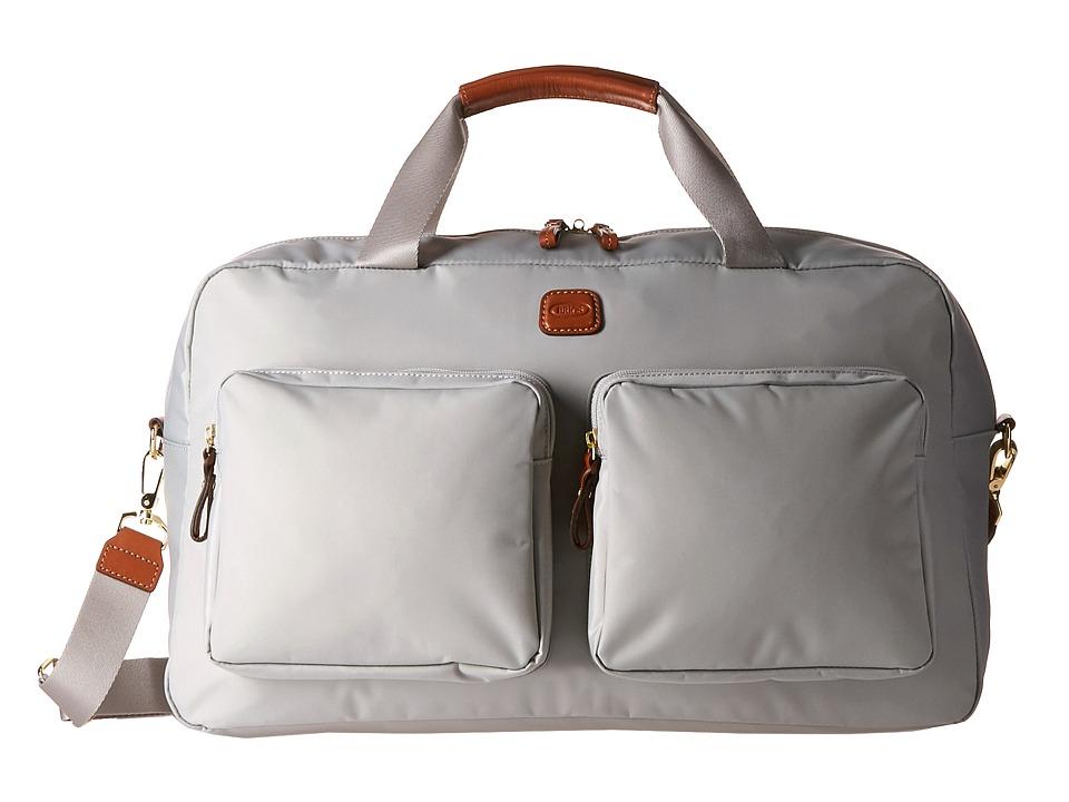 Brics Milano Boarding Duffel w/ Pockets Pearl Grey Duffel Bags