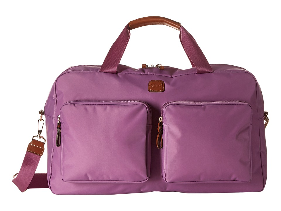 Brics Milano Boarding Duffel w/ Pockets Violet Duffel Bags
