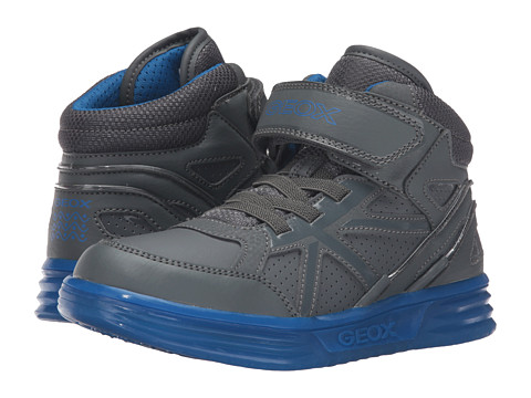 Geox Kids Jr Argonat Boy 5 (Little Kid/Big Kid) - Dark Grey/Royal
