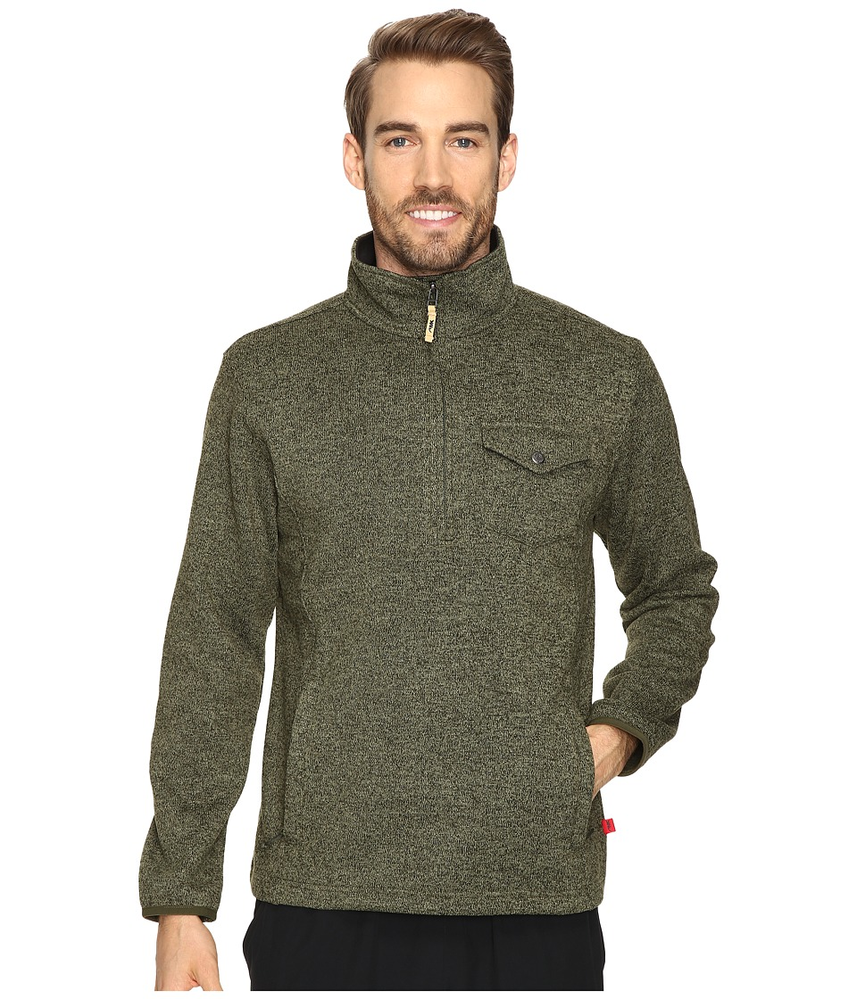 Mountain Khakis Old Faithful Qtr Zip Sweater (Field Green) Men