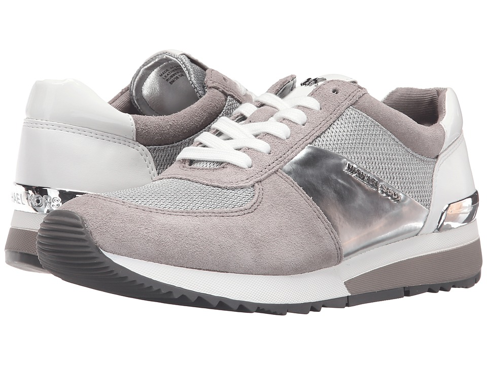 MICHAEL Michael Kors - Allie Trainer (Silver/Pearl Grey Mini Bike Mesh/Sport Suede/Nappa) Women