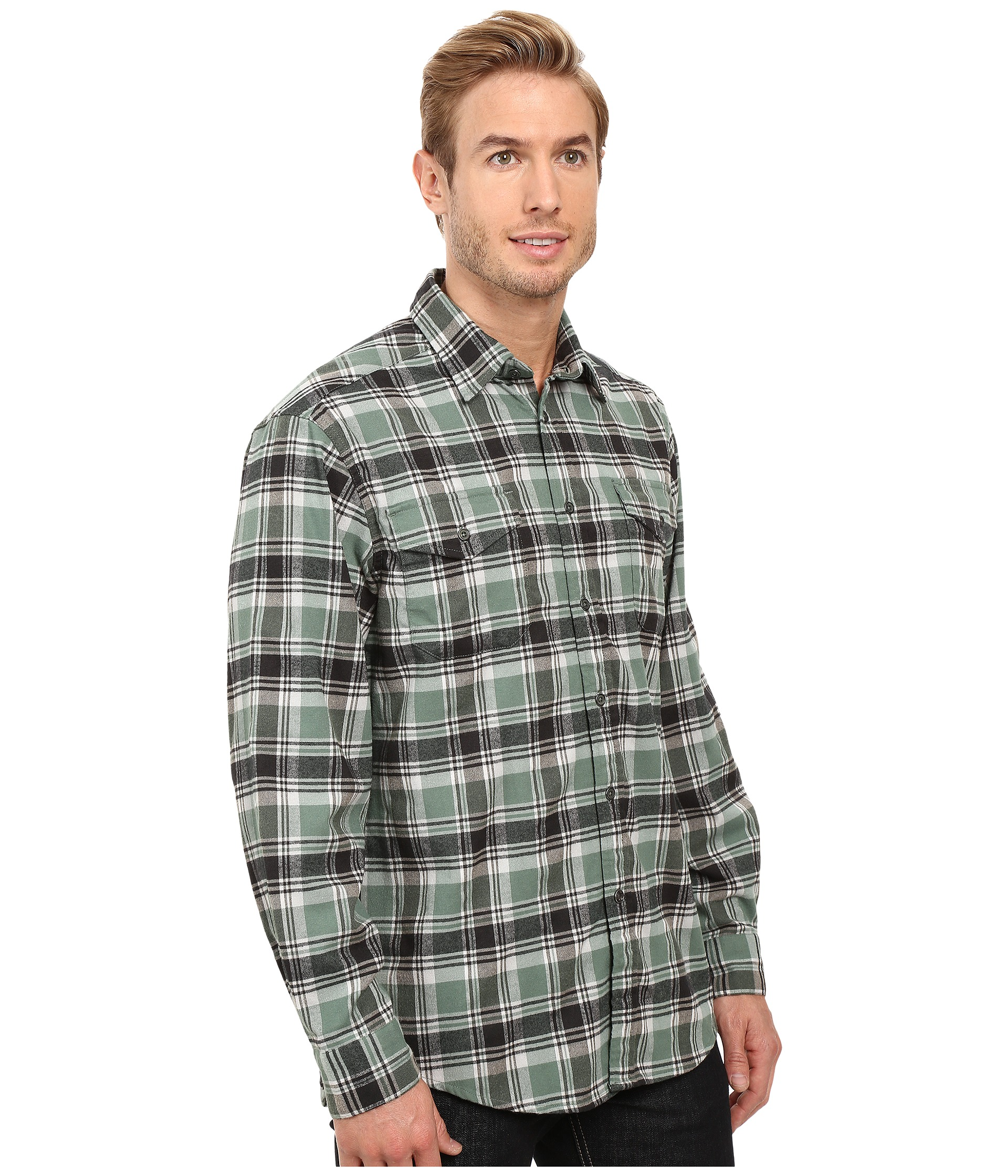 Mountain khakis peaks flannel shirt free for Athletic cut flannel shirts