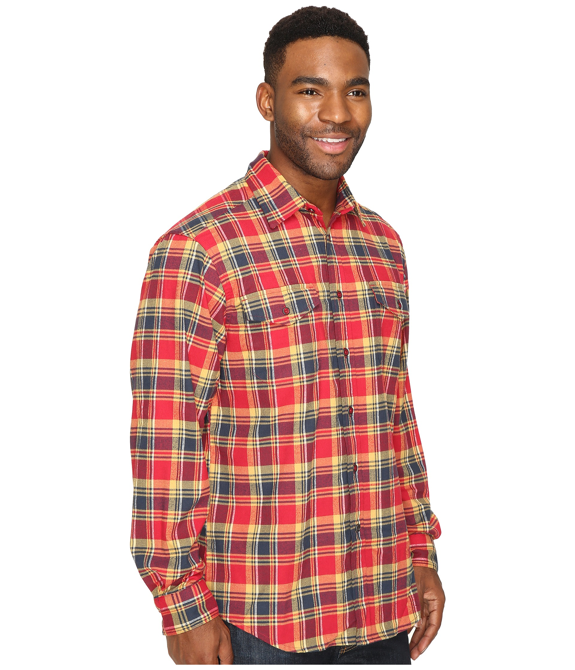 Mountain khakis peaks flannel shirt cardinal for Athletic cut flannel shirts