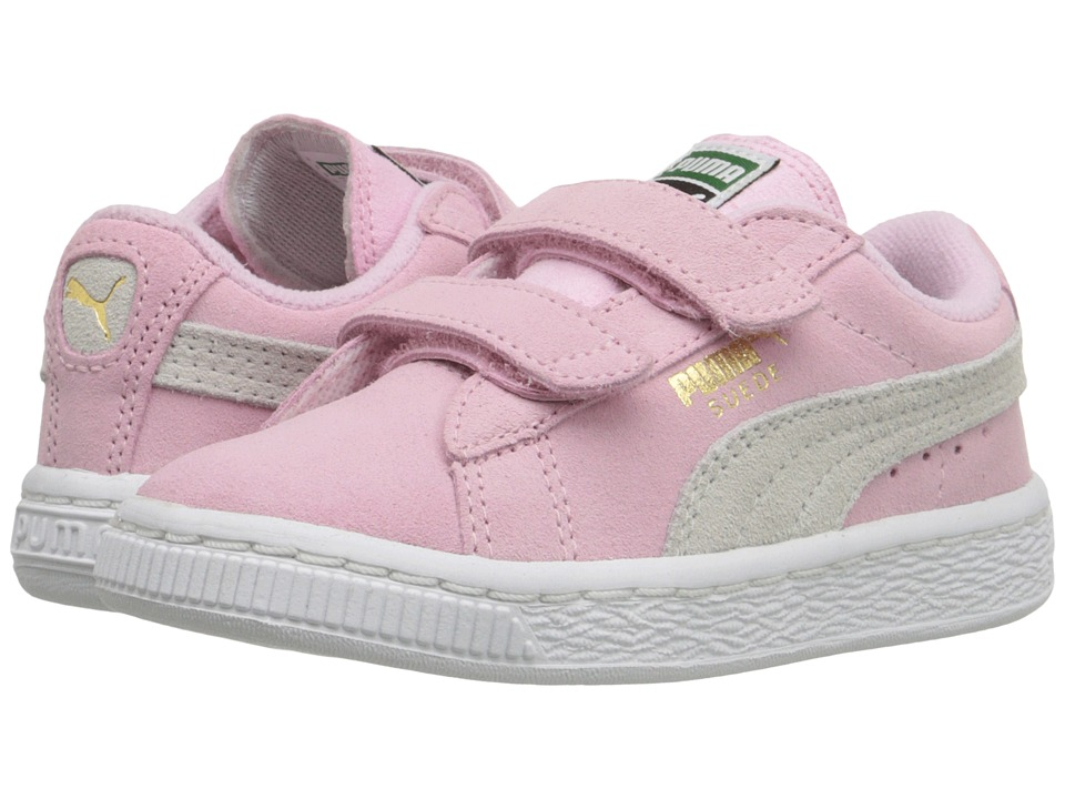 Puma Kids Suede 2 Straps Inf (Toddler) (Pink Lady/Team Gold) Girls Shoes