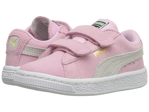 Puma Kids Suede 2 Straps Inf (Toddler) - Pink Lady/Team Gold