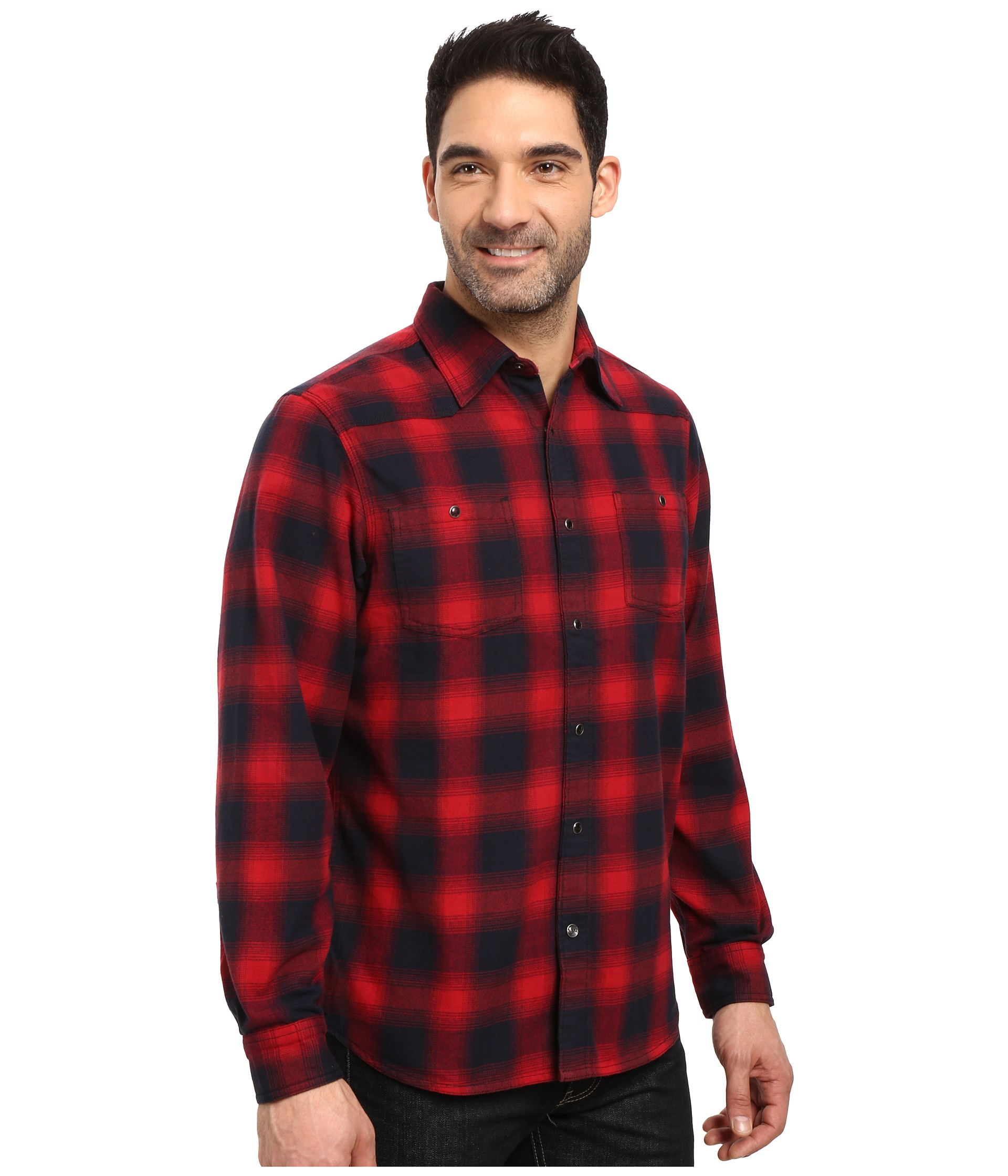 Mountain khakis saloon flannel shirt at for Athletic cut flannel shirts