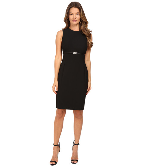 Versace Collection Sheath Belted Sleeveless Dress
