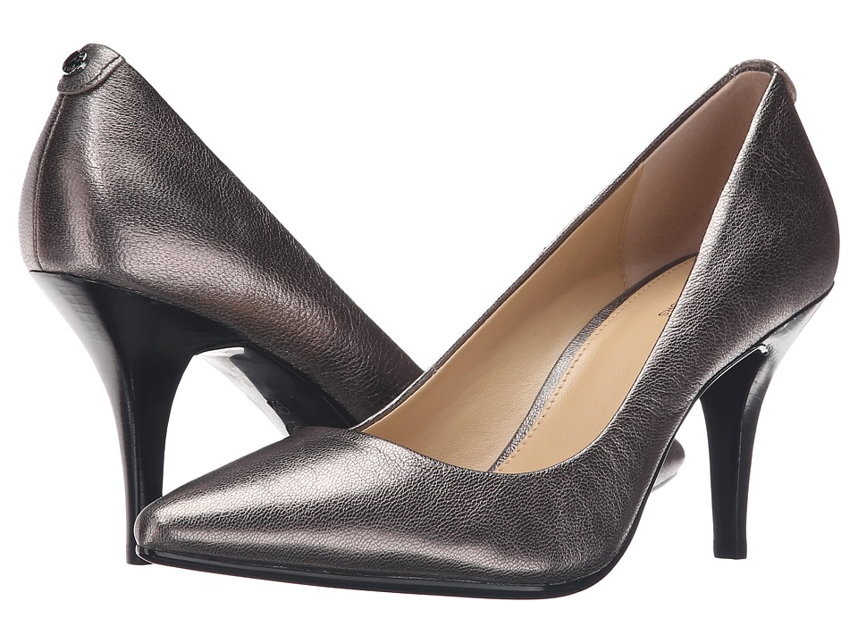 MICHAEL Michael Kors MK Flex Mid Pump (Gunmetal Tumbled Metallic) High Heel Shoes
