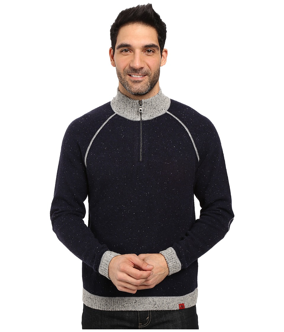 Mountain Khakis Fleck Qtr Zip Sweater (Navy) Men