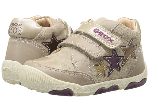 Geox Kids Baby New Balu Girl 1 (Infant/Toddler) - Beige/Multicolor