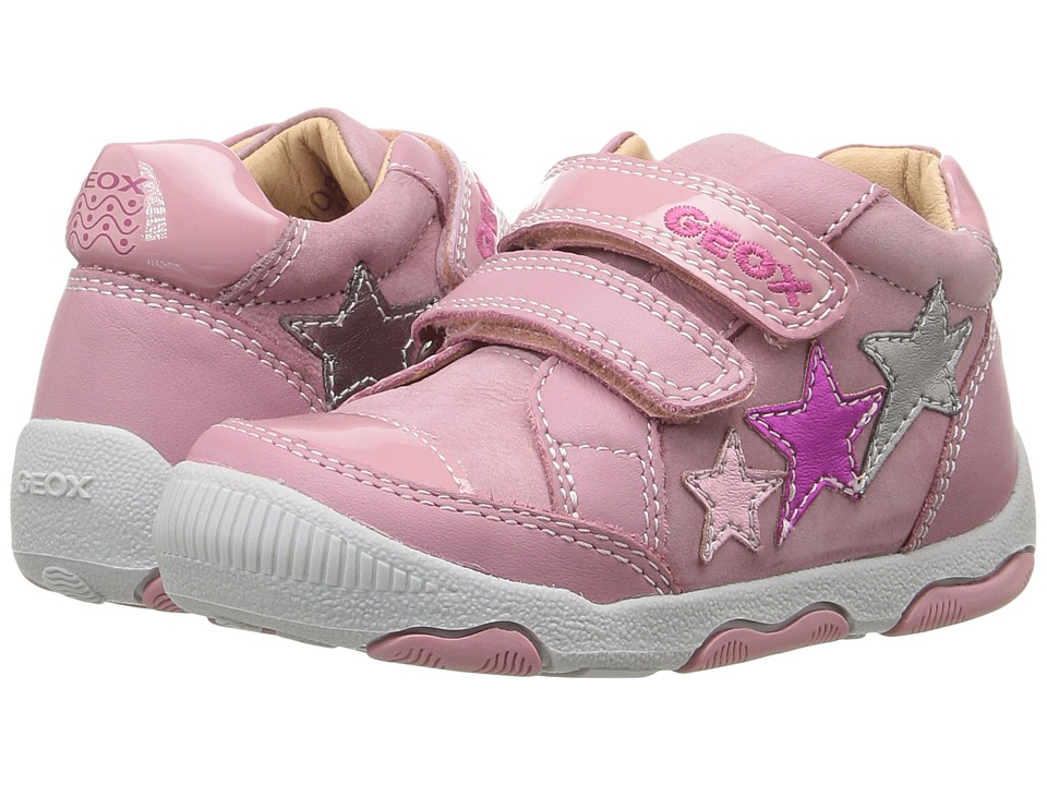 Geox Kids Baby New Balu Girl 3 (Infant/Toddler) (Pink/Multicolor) Girl