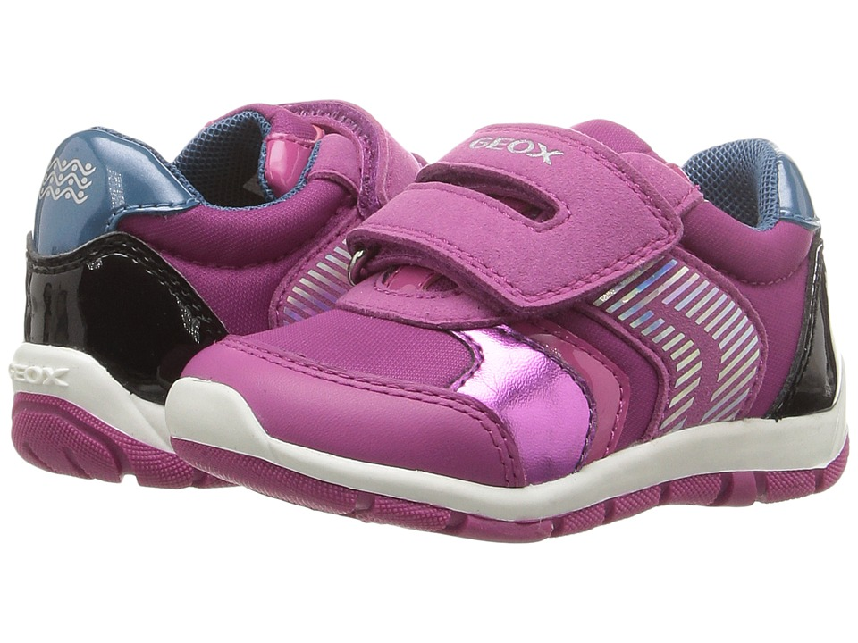 Geox Kids Baby Shaax Girl 13 (Toddler) (Fuchsia/Black) Girl