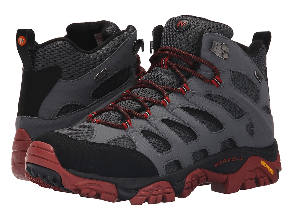 Merrell - Moab Mid Waterproof (Castle Rock/Black) Men