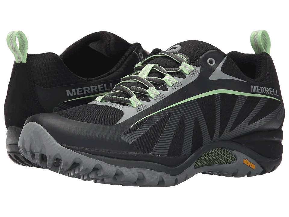 Merrell - Siren Edge Waterproof (Black/Paradise) Womens Lace up casual Shoes