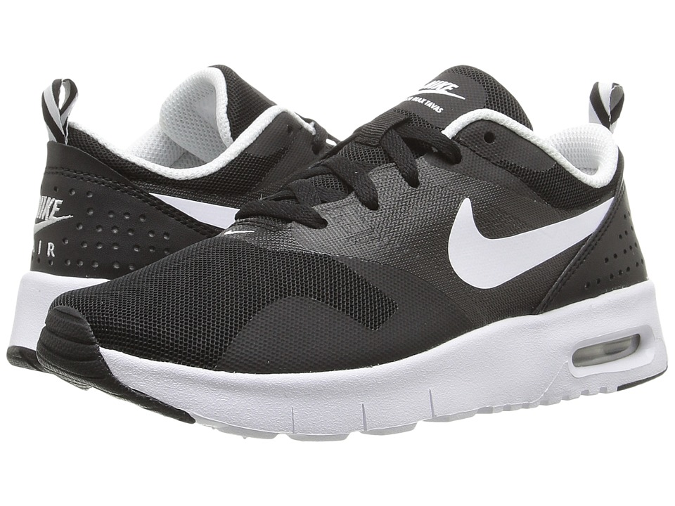 Nike Kids Air Max Tavas (Little Kid) (Black/White) Boys Shoes