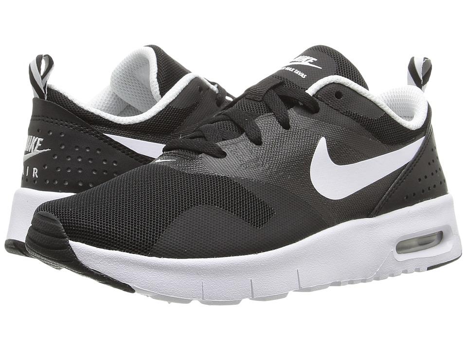 Nike Kids Air Max Tavas (Little Kid) (Black/White) Boys Shoes