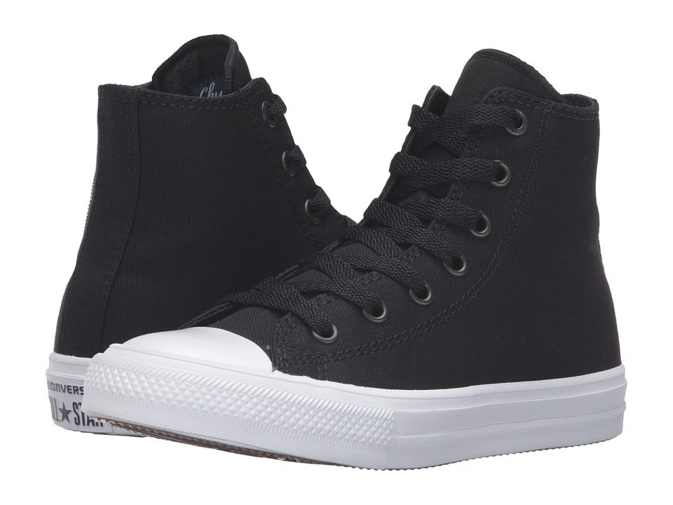 Converse Kids Chuck Taylor All Star II Hi (Little Kid) (Black/White/Navy) Kid
