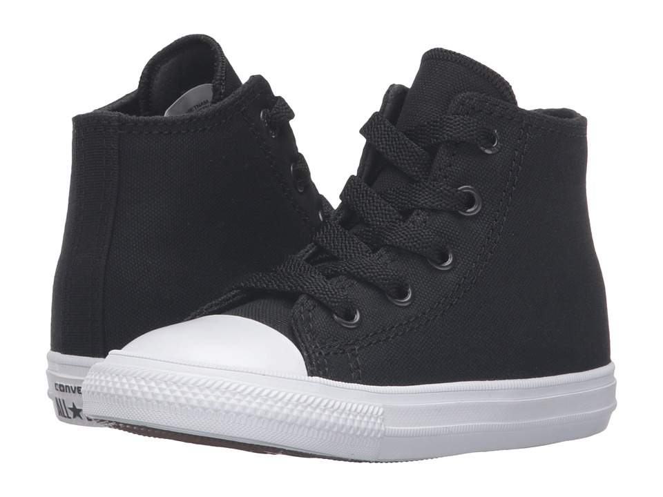 Converse Kids Chuck Taylor All Star II Hi (Infant/Toddler) (Black/White/Navy) Kid