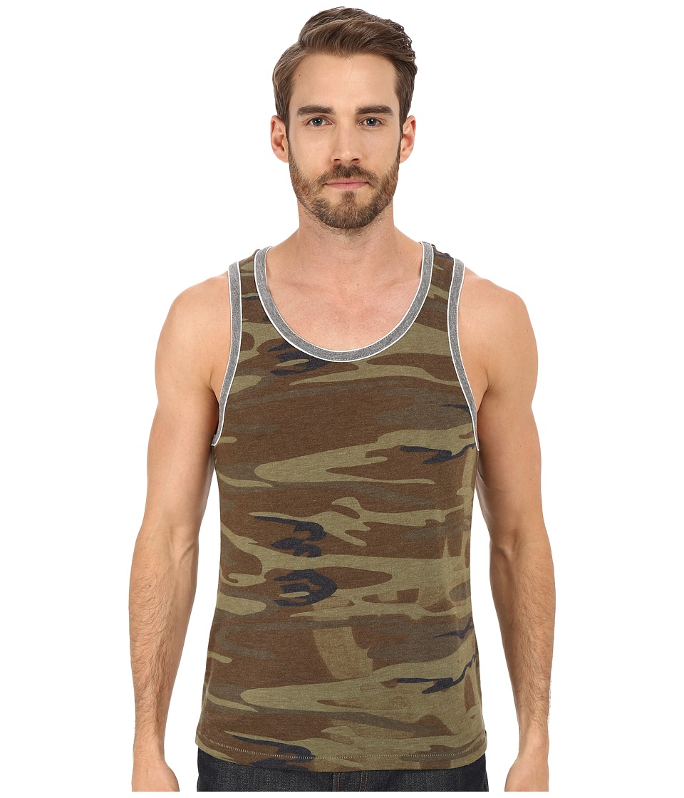 Alternative - Double Ringer Tank (Camo/Eco Grey) Mens Sleeveless