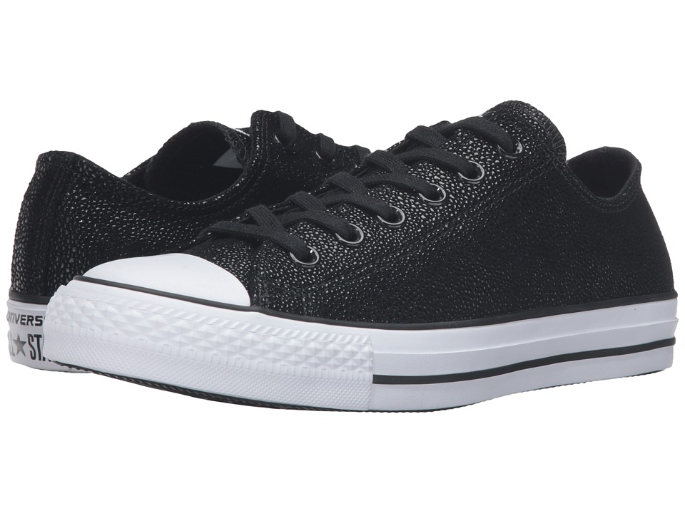 Converse - Chuck Taylor All Star Stingray Metallic Ox (Black/Black/White) Women