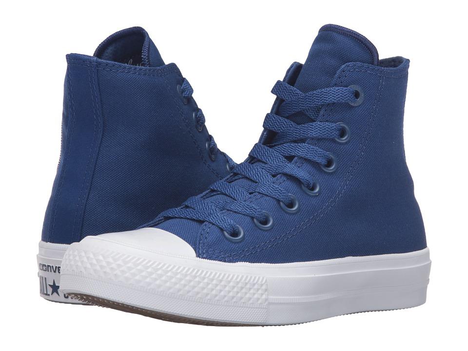 Converse Kids - Chuck Taylor All Star II Hi (Big Kid) (Sodalite Blue/White/Navy) Kid
