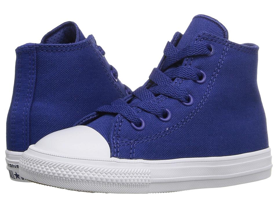 Converse Kids - Chuck Taylor All Star II Hi (Infant/Toddler) (Sodalite Blue/White/Navy) Kid