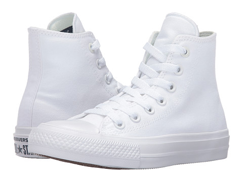 Converse Kids Chuck Taylor® All Star® II Hi (Big Kid) - White/White/Navy