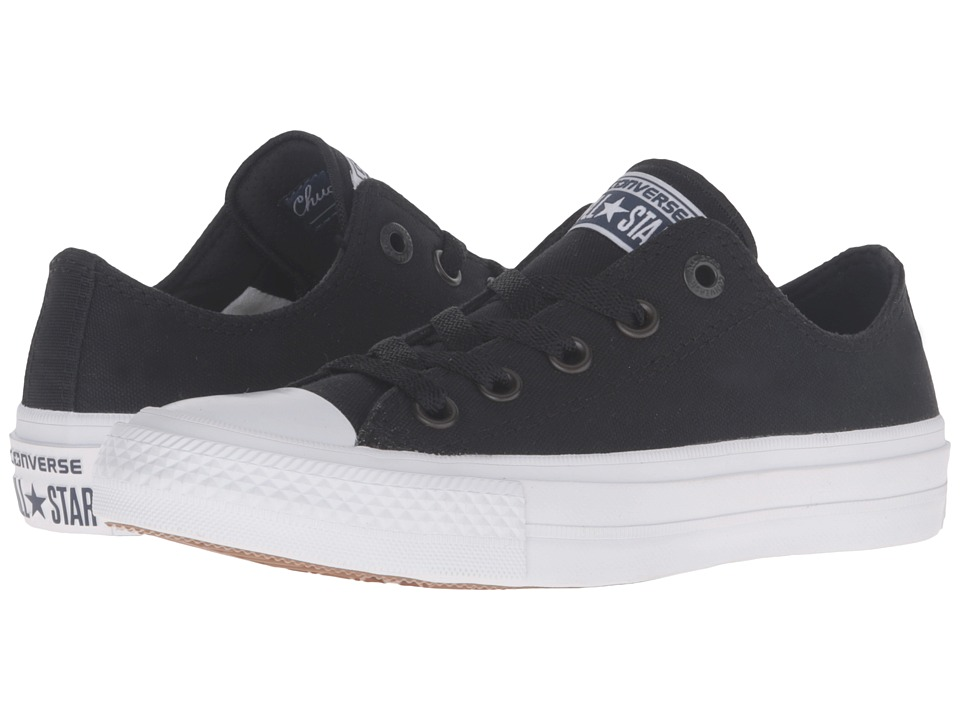 Converse Kids Chuck Taylor All Star II Ox (Big Kid) (Black/White/Navy) Kid