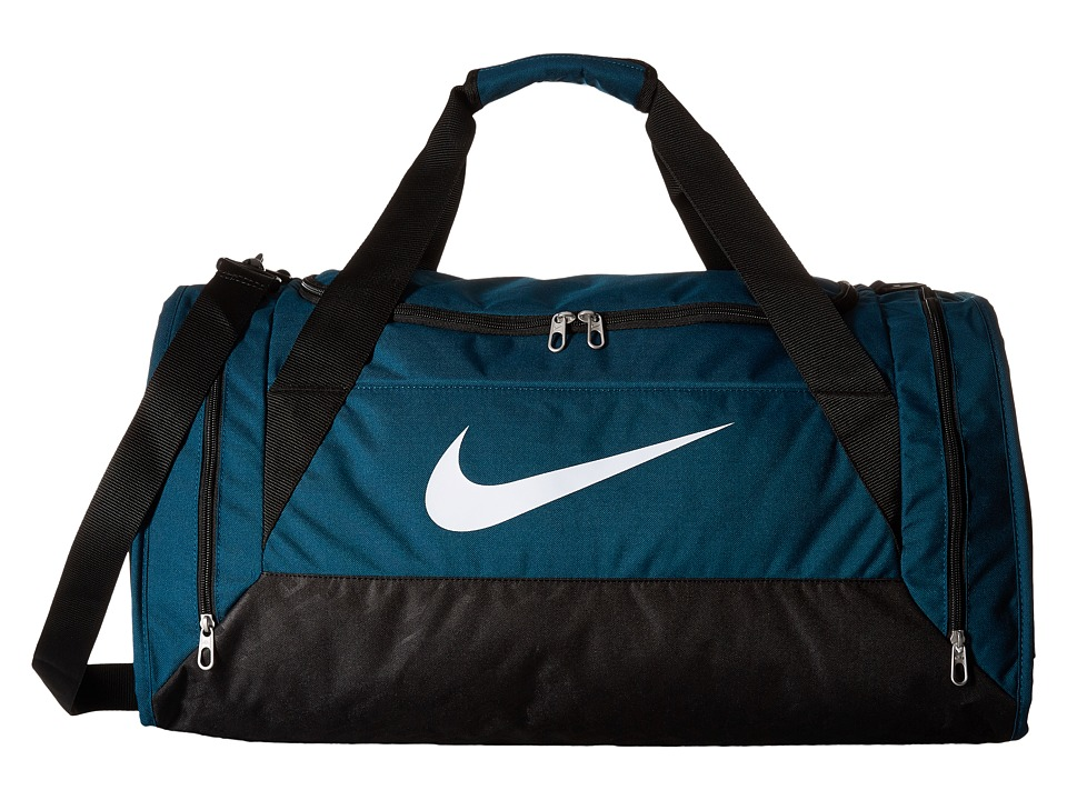 Nike - Brasilia 6 Medium Duffel (Midnight Turquoise/Black/White) Duffel Bags