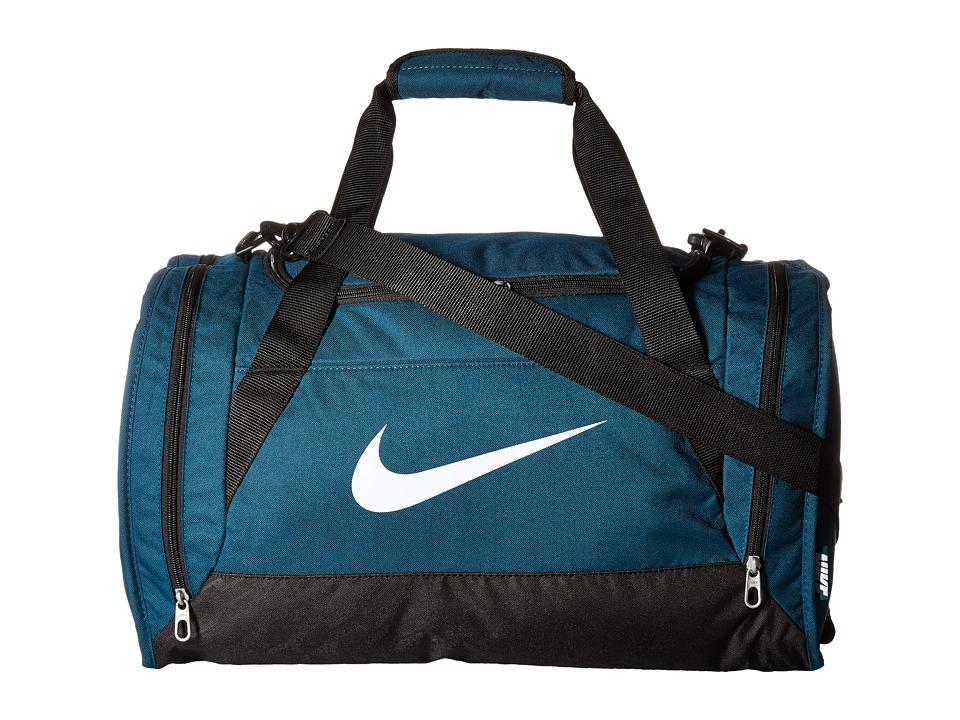 Nike - Brasilia 6 Small Duffel (Midnight Turquoise/Black/White) Duffel Bags