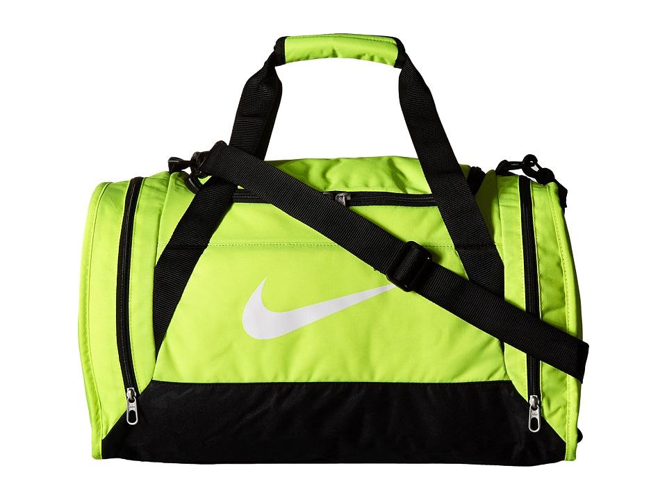 Nike - Brasilia 6 Small Duffel (Volt/Black/White) Duffel Bags