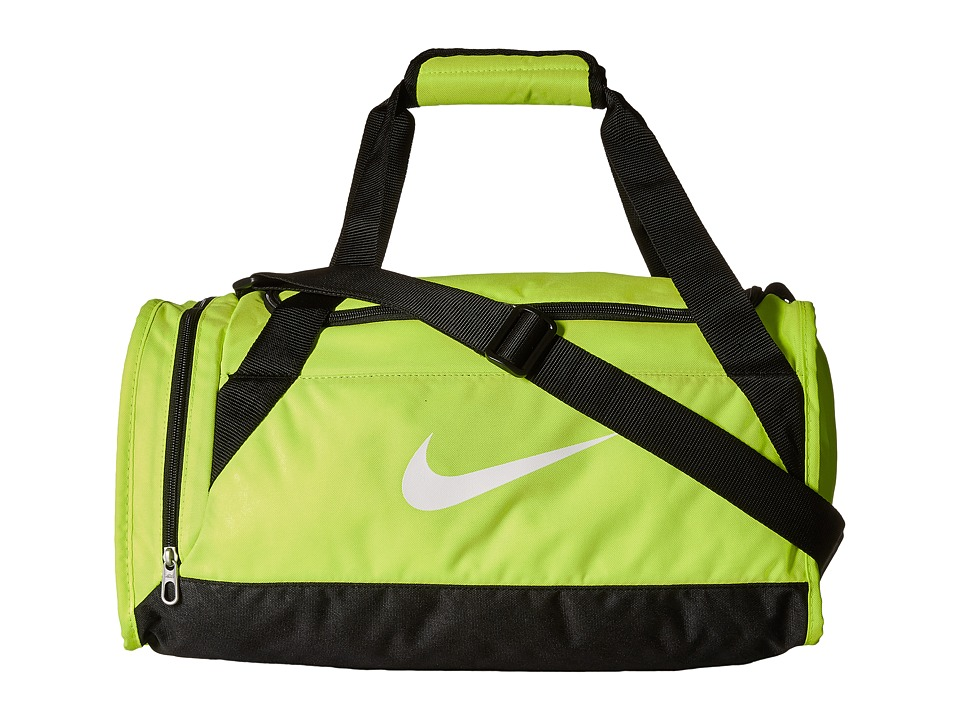 Nike - Brasilia 6 X-Small Duffel (Volt/Black/White) Duffel Bags