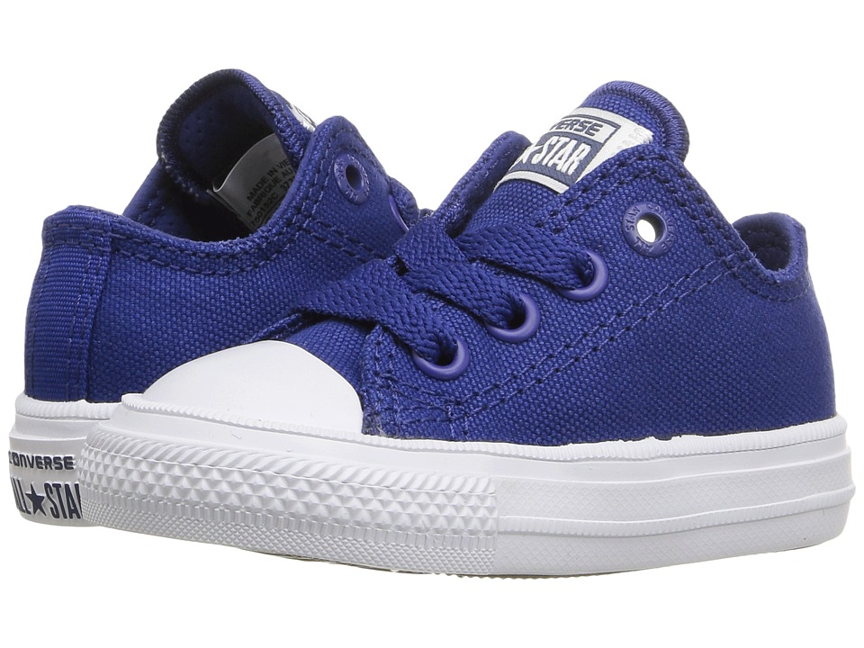 Converse Kids - Chuck Taylor All Star II Ox (Infant/Toddler) (Sodalite Blue/White/Navy) Kid