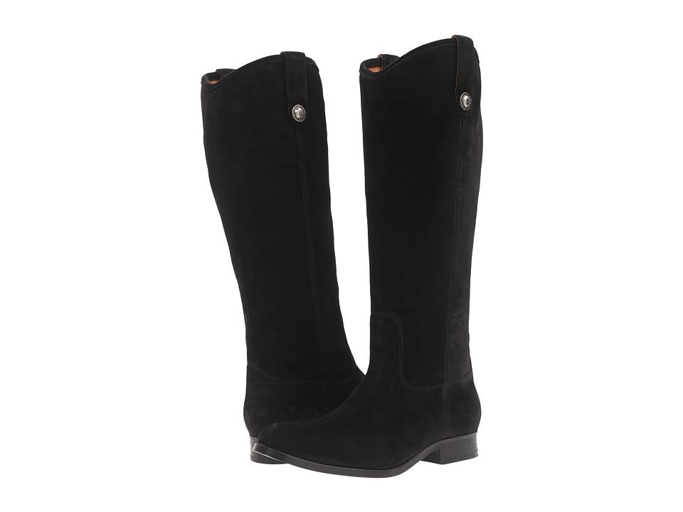 Frye Melissa Button (Black Suede) Western Boots