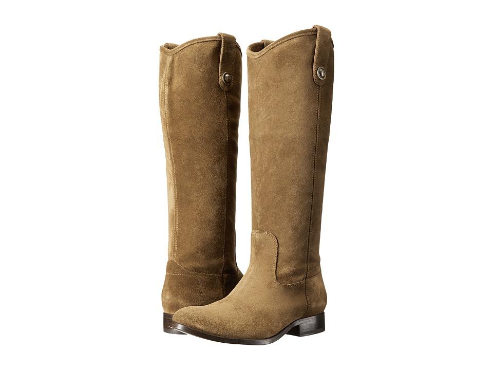 Frye Melissa Button (Cashew Suede) Western Boots