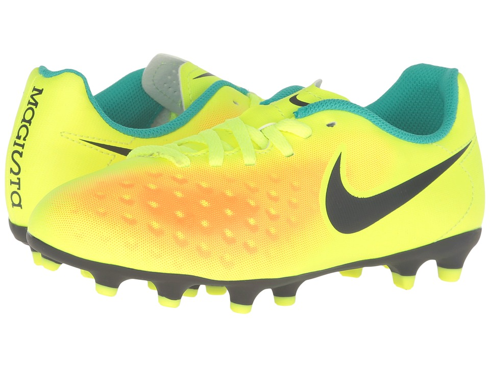 Nike Kids - Jr Magista Ola II FG (Little Kid/Big Kid) (Volt/Total Orange/Clear Jade/Black) Kids Shoes