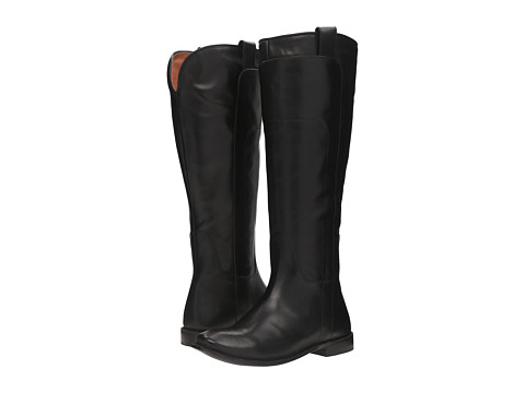 Frye Paige Tall Riding - Black Smooth Polished Veg