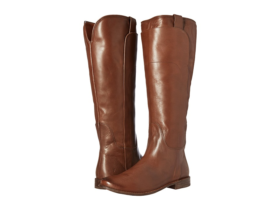 Frye Paige Tall Riding (Tobacco Smooth Polished Veg) Women's Pull-on Boots
