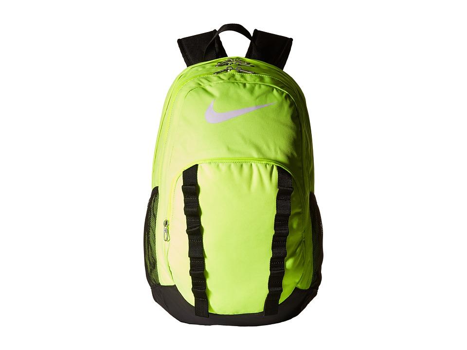 Nike - Brasilia 7 Backpack XL (Volt/Black/White) Backpack Bags