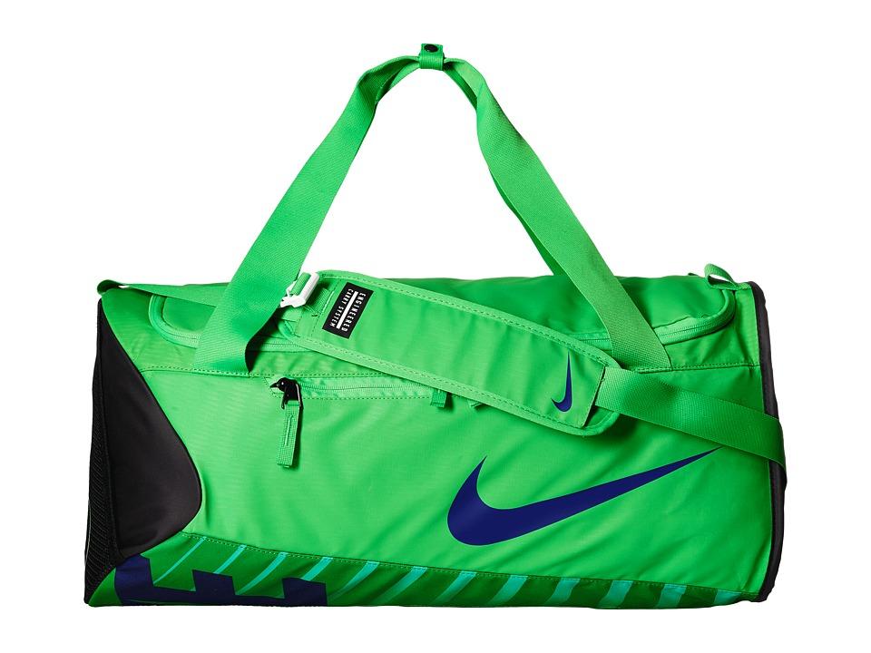Nike - New Duffel Medium (Green Spark/Black/Deep Royal Blue) Duffel Bags