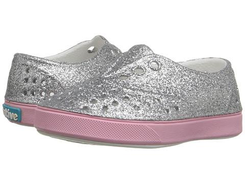Native Kids Shoes Miller Bling (Toddler/Little Kid) - Silver Bling/Princess Pink