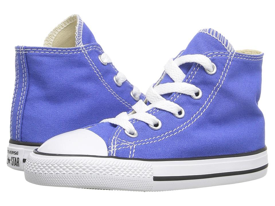 Converse Kids - Chuck Taylor All Star Seasonal Hi (Infant/Toddler) (Oxygen Blue) Kids Shoes