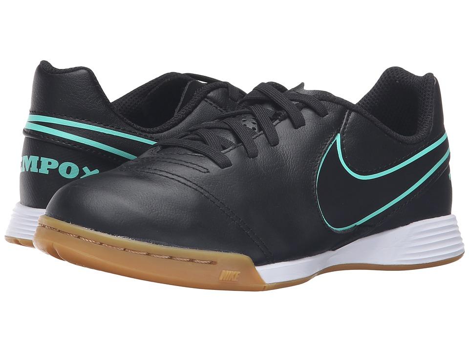 Nike Kids - Jr Tiempo Legend VI IC Soccer (Toddler/Little Kid/Big Kid) (Black/Black) Kids Shoes