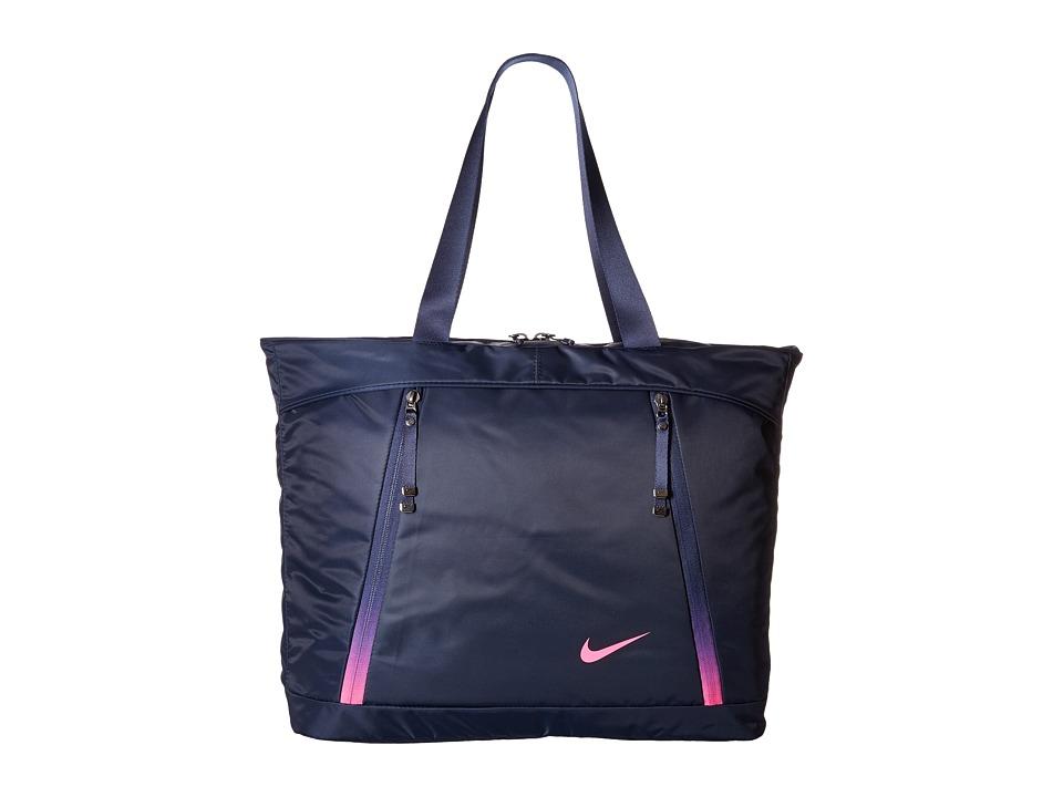 Nike - Auralux Tote (Obsidian/Hyper Pink/Hyper Pink) Tote Handbags