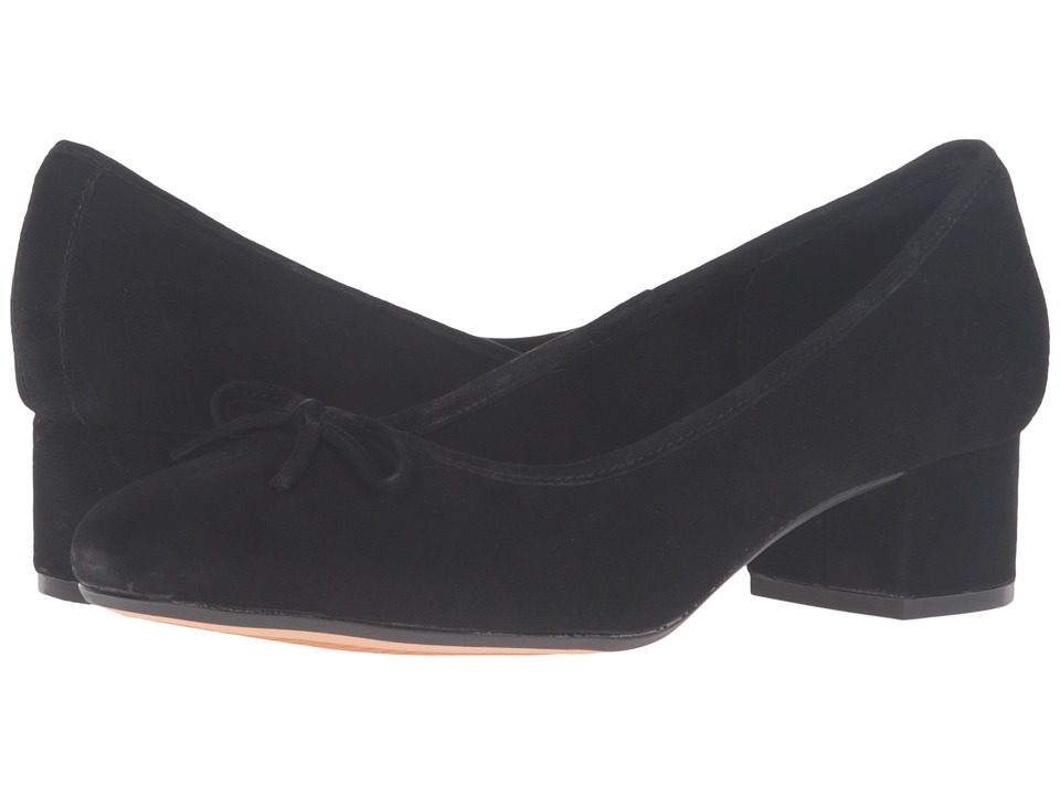 Clarks Cala Lucky (Black Suede) Women
