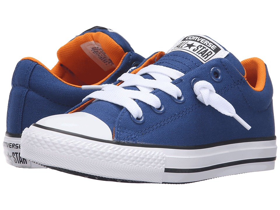 Converse Kids - Chuck Taylor All Star Street Ox (Little Kid/Big Kid) (Roadtrip Blue/Vivid Orange/White) Boys Shoes
