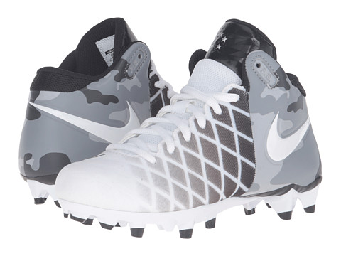 Nike Kids Field General Pro TD BG Football (Little Kid/Big Kid) - White/Black/Metallic Silver/White